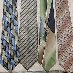 4 men's ties